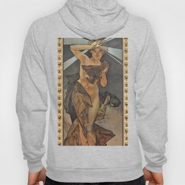 """Alphonse Mucha """"The Moon and the Stars Series: The Morning Star"""" Hoody"""