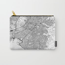 Athens White Map Carry-All Pouch