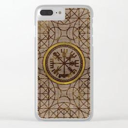 Vegvisir. The Magic Navigation Viking Compass Clear iPhone Case