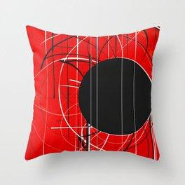 Black Dot Sticker Abstract Throw Pillow