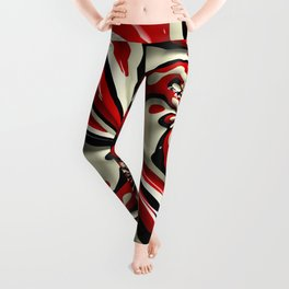 Red Moschino Splotch Leggings