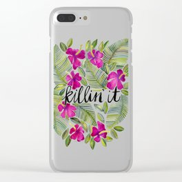Killin' It – Tropical Pink Clear iPhone Case