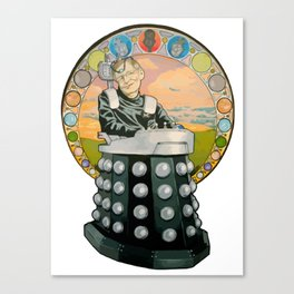 Stephen Hawking Dalek Canvas Print