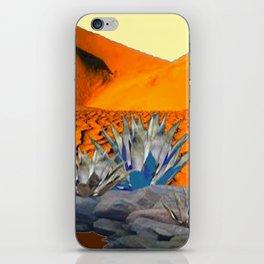 BLUE AGAVE DESERT LANDSCAPE CACTUS ART iPhone Skin