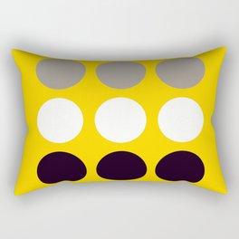 Abacus - Retro Dots On Yellow Background #decor #society6 #buyart Rectangular Pillow