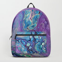 Purple Fluid Acrylic Abstract Painting - Slow Down  III Backpack