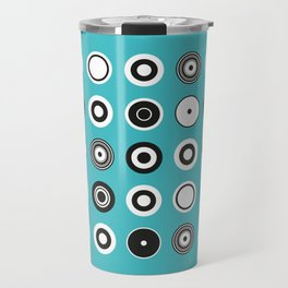 Circles Turquoise Travel Mug