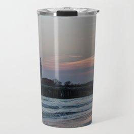 LightHouse Sunset in Italy Travel Mug