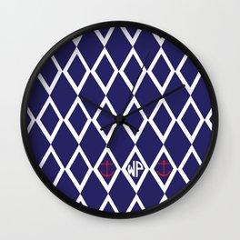 Diamond Anchor Personalized Print Wall Clock