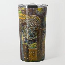 Dedication to Van Gogh: Seattle Starry Night Travel Mug