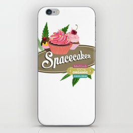 SpaceCakesBrown iPhone Skin