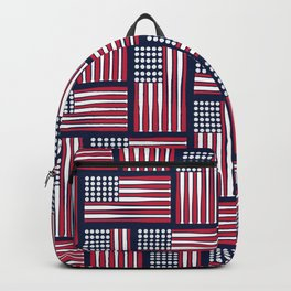USA Baseball Flag Backpack