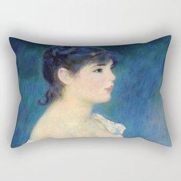 "Auguste Renoir ""Buste de femme de profil"" Rectangular Pillow"