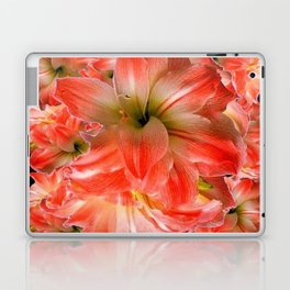 Black-Red Amaryllis Floral Pattern Laptop & iPad Skin