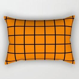 ORange and black cube Rectangular Pillow