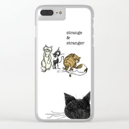 Stranger Clear iPhone Case