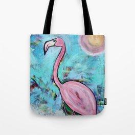 Flamingo at Sunset Tote Bag