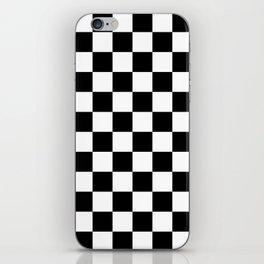 Checkered (Black & White Pattern) iPhone Skin