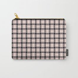 Small Pastel Pink Weave Carry-All Pouch
