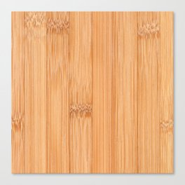 Cool elegant light brown bamboo wood print Canvas Print