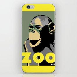 Retro Zoo Berlin monkey travel advertising iPhone Skin