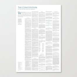 Constitution of the United States Canvas Print