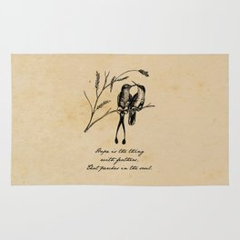 Emily Dickinson - Hope is the Thing with Feathers Rug