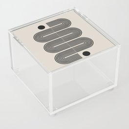 Geometric Mid Century Art Acrylic Box