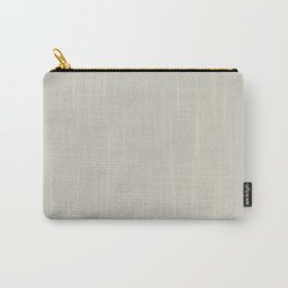 Light Chalky Pastel Gray Solid Color Carry-All Pouch