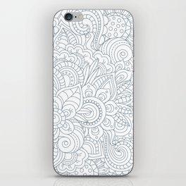 Background Zentangle (doodle) flowers iPhone Skin