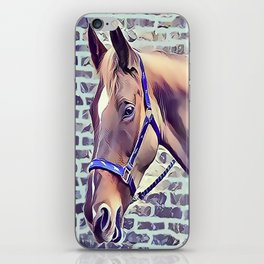 Brown Horse with Harness iPhone Skin