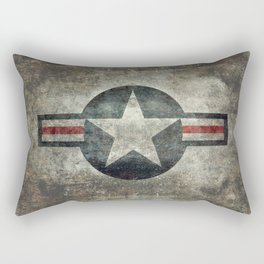 Stylized US Air force Roundel Rectangular Pillow