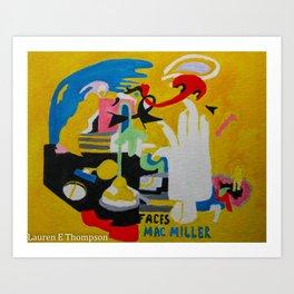 FACES Mac Miller Art Print