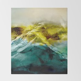 Abstract Mountain Throw Blanket