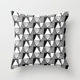 Vintage Diamond Pattern Throw Pillow