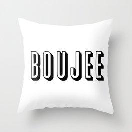 Boujee Throw Pillow