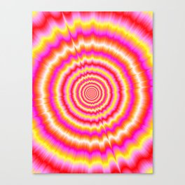 Shockwaves in Violet and Yellow Canvas Print