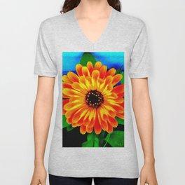 Orange Marigold Unisex V-Neck