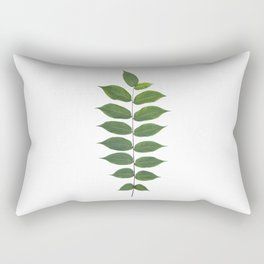 Green Leaf Botanical Print Rectangular Pillow
