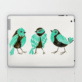 Turquoise Finches Laptop & iPad Skin