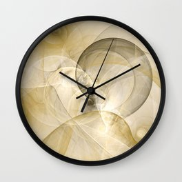 Series Abstract Art In Earth Tones 3 Fractal Art Wall Clock
