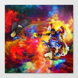 Dance with eagle Canvas Print