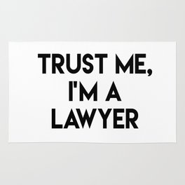 Trust me I'm a lawyer Rug