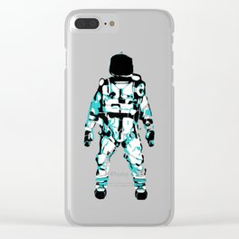 The Astronaut During Interstellar Travel Clear iPhone Case