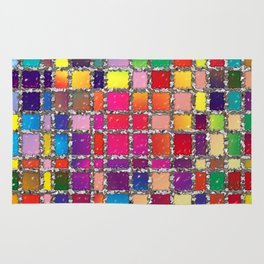 Stained Glass Window Multicolour Pattern Rug