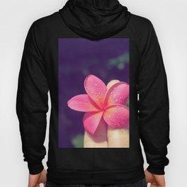pua melia pink tropical plumeria hawaii Hoody
