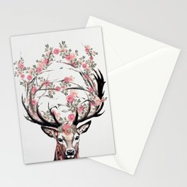 Deer and Flowers Stationery Cards