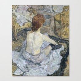 """Henri de Toulouse-Lautrec """"Rousse (La Toilette)"""" Canvas Print"""