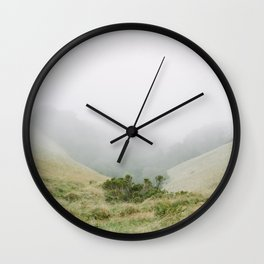 mt tam in the fog Wall Clock