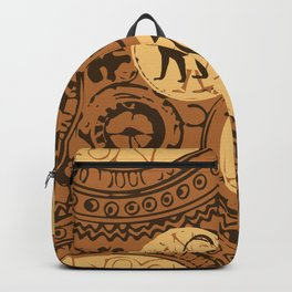 African Tribal Pattern No. 5 Backpack